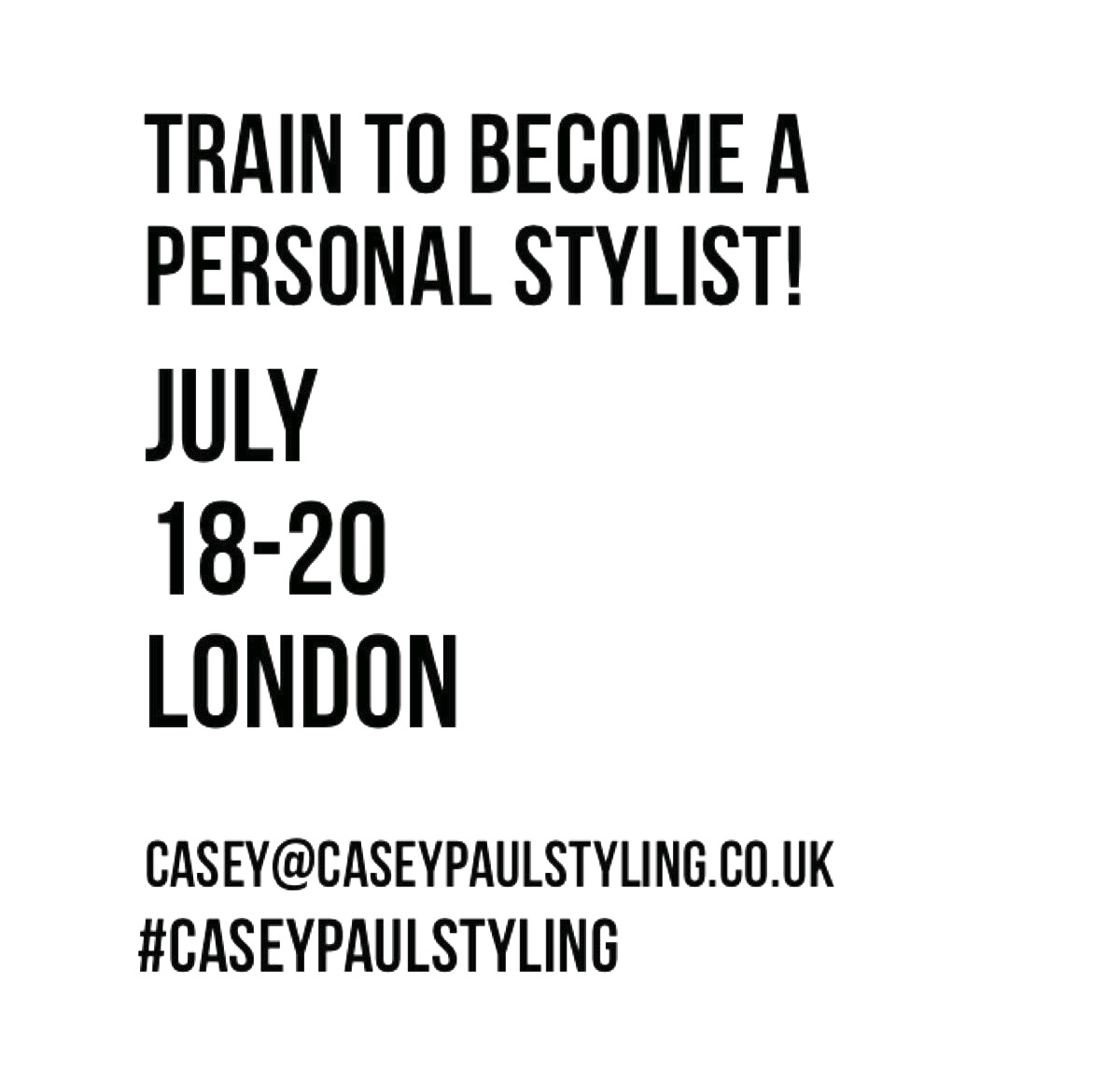 Train to become a personal stylist